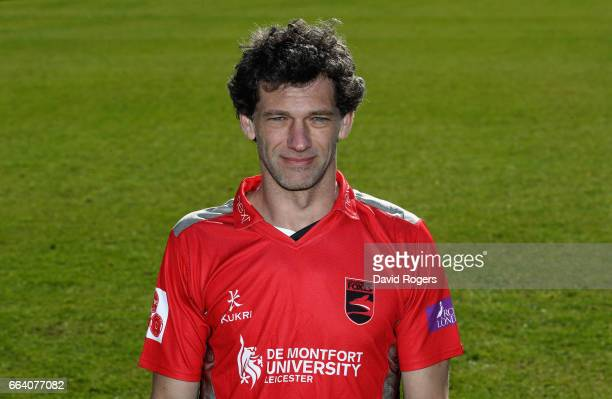 Charlie Shreck poses in the Leicestershire Foxes Royal London OneDay Cup kit during the Leicestershire County Cricket photocall held at Grace Road on...