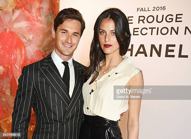 Charlie Siem and Loulou Siem attend the launch of Lucia Pica's makeup collection for Chanel at Somerset House on June 23 2016 in London England
