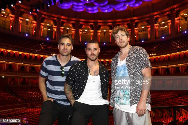 Charlie Simpson Matt Willis and James Bourne of Busted attend a photocall at Royal Albert Hall on June 20 2017 in London England Busted are playing a...