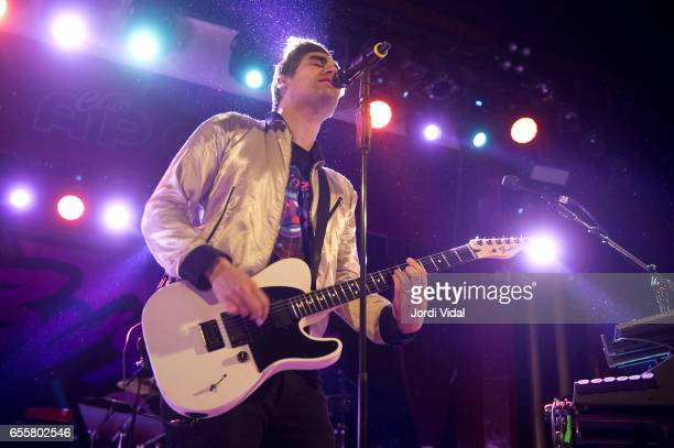 Charlie Simpson of Busted performs on stage at Sala Apolo on March 20 2017 in Barcelona Spain