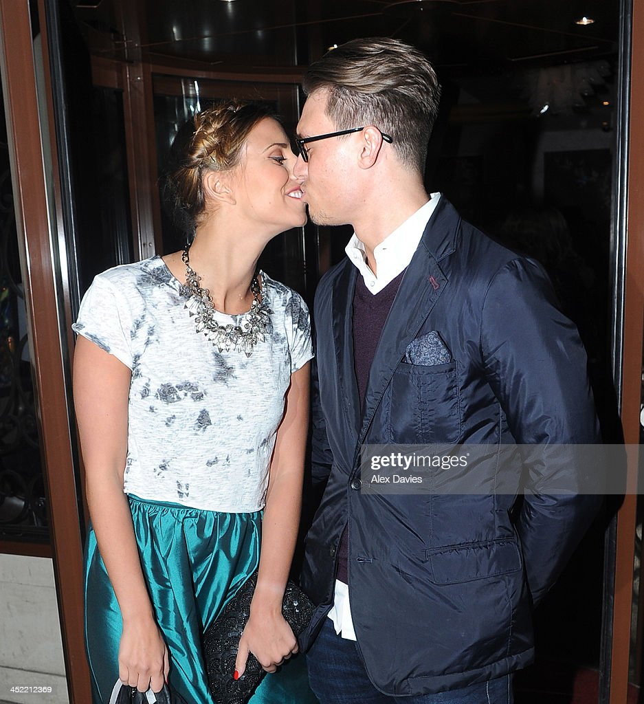 Charlie Sims and Ferne McCann attend the Now magazine Christmas party on November 26, 2013 in London, England.