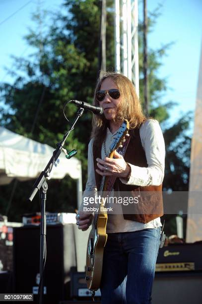 Charlie Starr of Blackberry Smoke band performs at the 8th Annual Rock Ribs Ridges Festival at Sussex County Fairgrounds on June 25 2017 in Augusta...