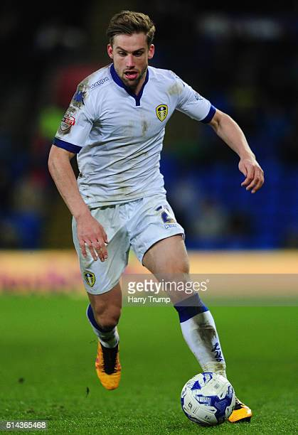 Charlie Taylor of Leeds United during the Sky Bet Championship match between Cardiff City and Leeds United at the Cardiff City Stadium on March 8...
