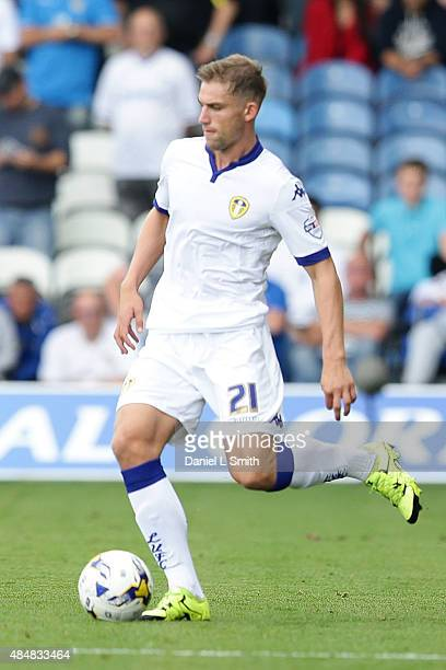 Charlie Taylor of Leeds United FC passes the ball during the Sky Bet Championship match between Leeds United and Sheffield Wednesday at Elland Road...