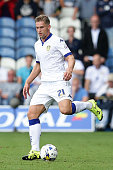 Charlie Taylor of Leeds United FC with the ball during the Sky Bet Championship match between Leeds United and Sheffield Wednesday at Elland Road on...