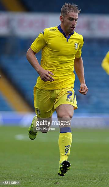 Charlie Taylor of Leeds United in action during the Pre Season Friendly match between Leeds United and Everton at Elland Road on August 1 2015 in...