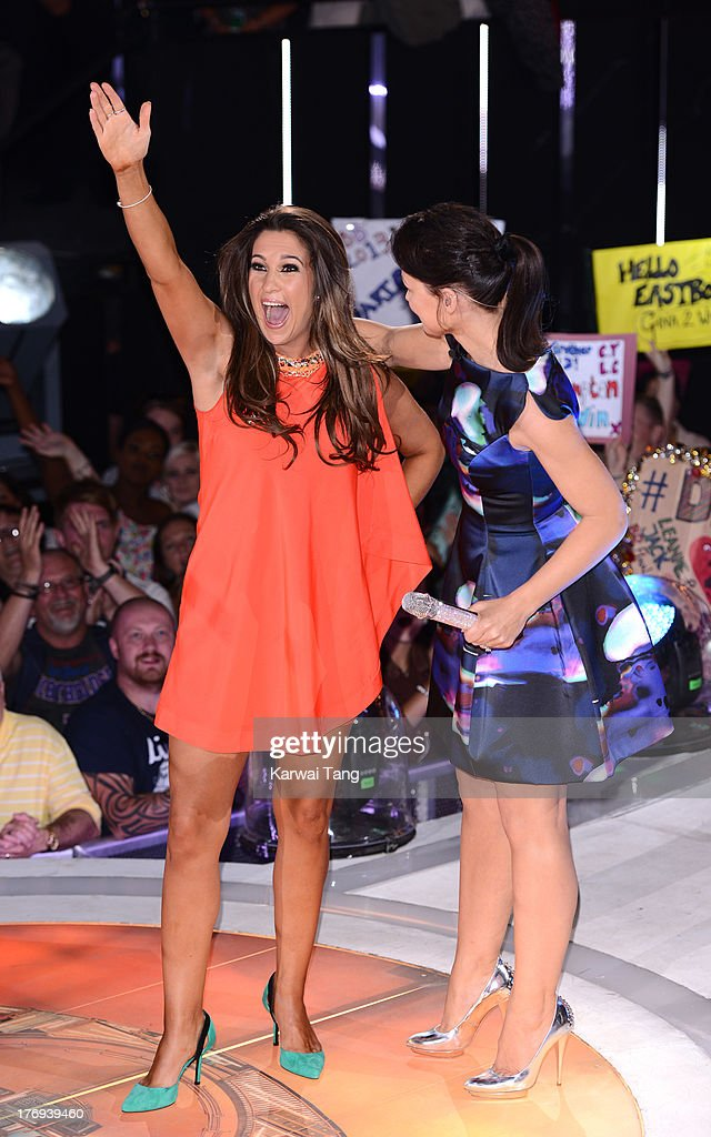 Charlie Travers gets evicted from the Big Brother house at Elstree Studios on August 19, 2013 in Borehamwood, England.