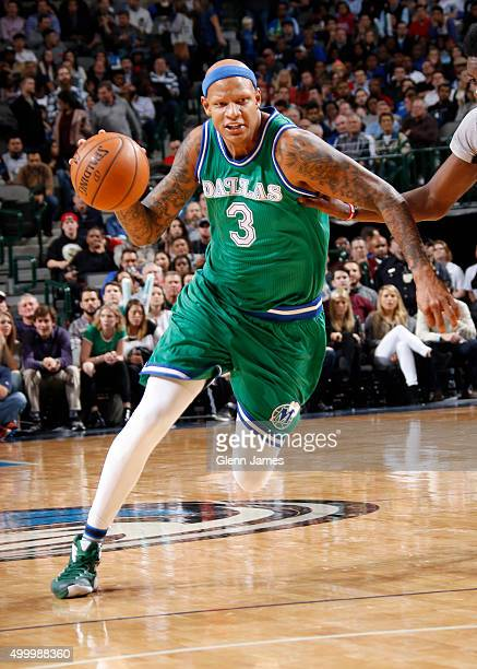 Charlie Villanueva of the Dallas Mavericks handles the ball against the Houston Rockets on December 4 2015 at the American Airlines Center in Dallas...