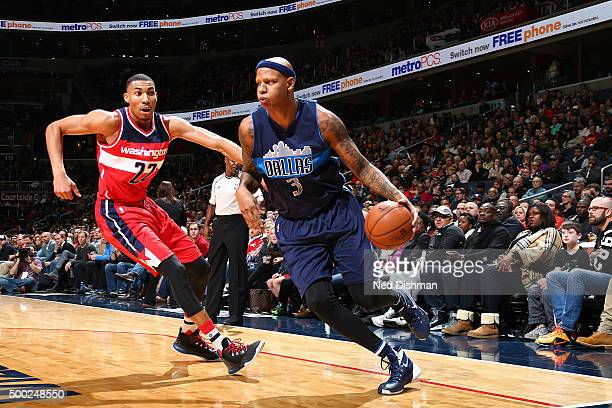 Charlie Villanueva of the Dallas Mavericks handles the ball against the Washington Wizards on December 6 2015 at Verizon Center in Washington DC NOTE...