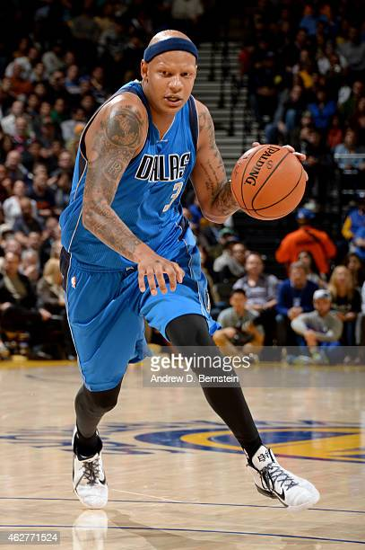 Charlie Villanueva of the Dallas Mavericks handles the basketball during a game against the Golden State Warriors at Oracle Arena on February 4 2015...