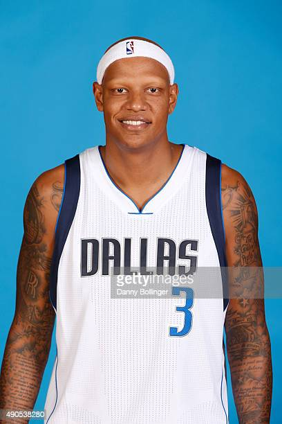 Charlie Villanueva of the Dallas Mavericks poses for a head shot during Media Day on September 28 2015 at the American Airlines Center in Dallas...