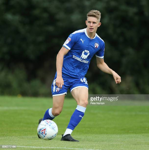 Charlie Wakefield of Chesterfield in action during the Reserve Match between Northampton Town and Chesterfield at Moulton College on August 21 2017...