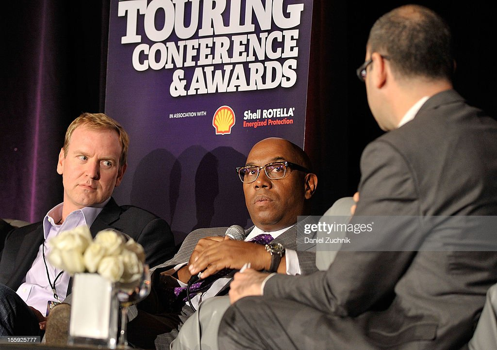 Charlie Walker, Charles J. Johnson and Bill Werde attend the 2012 Billboard Touring Conference & Awards Keynote Address at Roosevelt Hotel on November 8, 2012 in New York City.