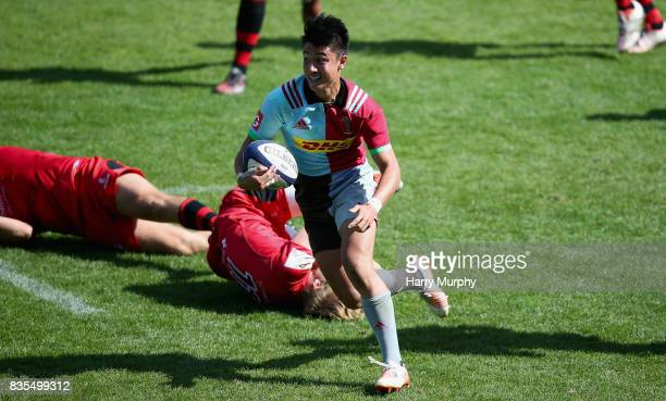 Charlie Walker of Harlequins in action during the pre season match between Harlequins and Jersey Red at the Twickenham Stoop on August 19 2017 in...