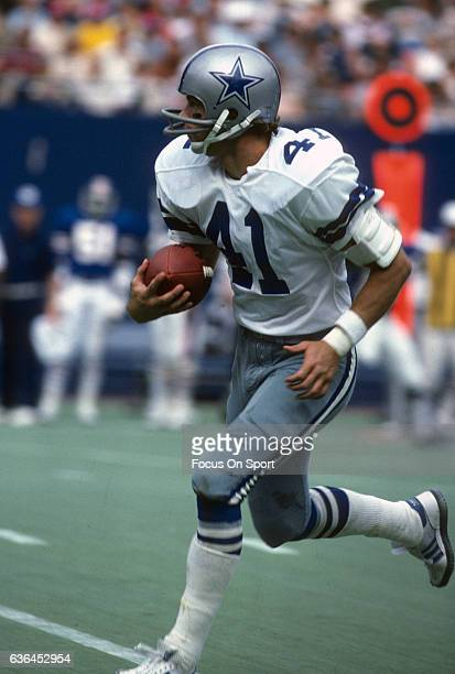 Charlie Waters of the Dallas Cowboys runs with the ball against the New York Giants during an NFL football game November 4 1979 at The Meadowlands in...
