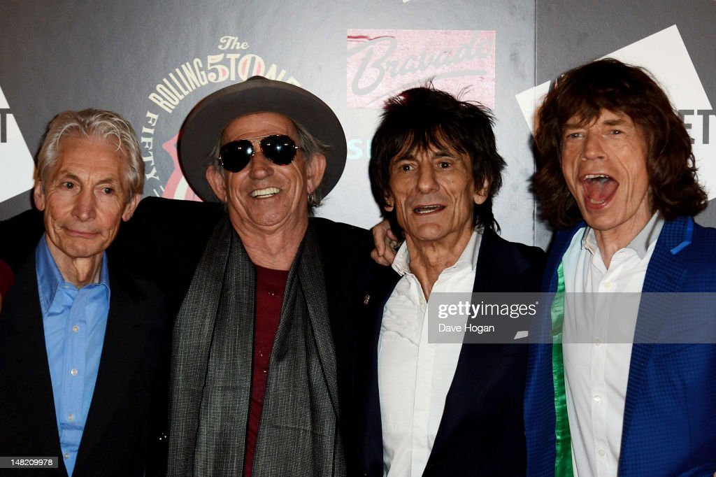 L-R <a gi-track='captionPersonalityLinkClicked' href=/galleries/search?phrase=Charlie+Watts&family=editorial&specificpeople=213325 ng-click='$event.stopPropagation()'>Charlie Watts</a>, <a gi-track='captionPersonalityLinkClicked' href=/galleries/search?phrase=Keith+Richards+-+Musician&family=editorial&specificpeople=202882 ng-click='$event.stopPropagation()'>Keith Richards</a>, Ronnie Wood and <a gi-track='captionPersonalityLinkClicked' href=/galleries/search?phrase=Mick+Jagger&family=editorial&specificpeople=201786 ng-click='$event.stopPropagation()'>Mick Jagger</a> attend as The Rolling Stones celebrate their 50th anniversary with an exhibition at Somerset House on July 12, 2012 in London, England.