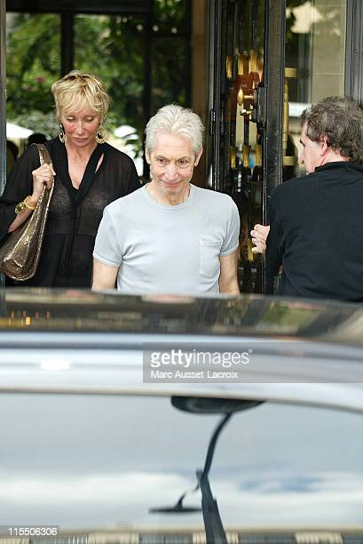 Charlie Watts of The Rolling Stones during Rolling Stones Sighting in Paris July 29 2006 at Four Seasons George V Hotel in Paris France