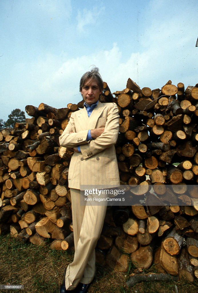 <a gi-track='captionPersonalityLinkClicked' href=/galleries/search?phrase=Charlie+Watts&family=editorial&specificpeople=213325 ng-click='$event.stopPropagation()'>Charlie Watts</a> of the <a gi-track='captionPersonalityLinkClicked' href=/galleries/search?phrase=Rolling+Stones&family=editorial&specificpeople=85170 ng-click='$event.stopPropagation()'>Rolling Stones</a> is photographed at Longview Farm in September 1981 in Worcester, Massachusetts.