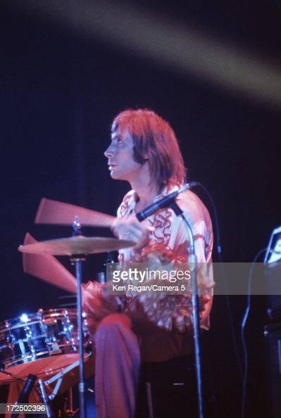Charlie Watts of the Rolling Stones is photographed on stage during the Rolling Stones tour Exile on Main St in 1972 CREDIT MUST READ Ken...