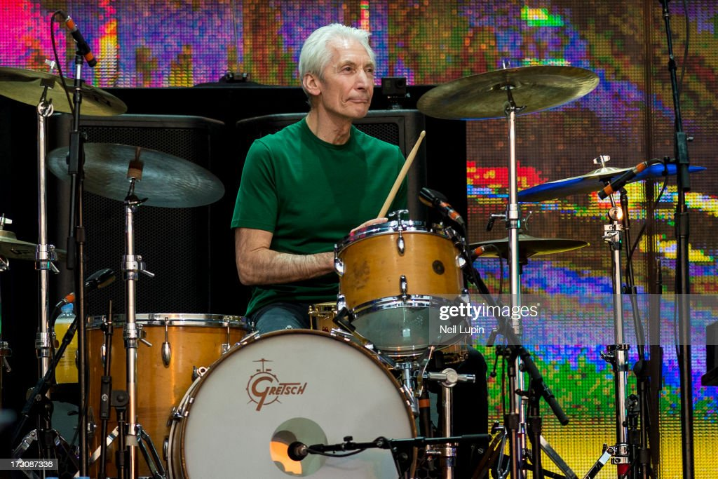 <a gi-track='captionPersonalityLinkClicked' href=/galleries/search?phrase=Charlie+Watts&family=editorial&specificpeople=213325 ng-click='$event.stopPropagation()'>Charlie Watts</a> of The Rolling Stones performs at day 2 of British Summer Time Hyde Park presented by Barclaycard at Hyde Park on July 6, 2013 in London, England.