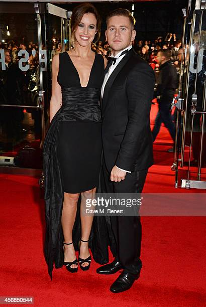 Charlie Webster and Allen Leech attend the Opening Night Gala Screening of 'The Imitation Game' during the 58th London Film Festival at Odeon...