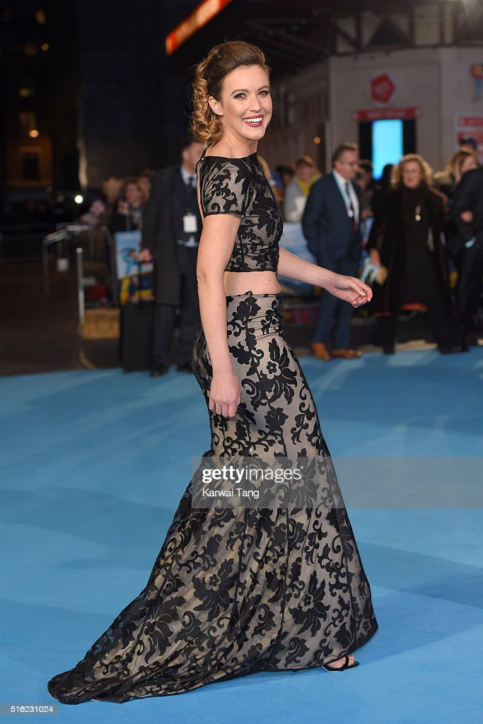 Charlie Webster arrives for the European premiere of 'Eddie The Eagle' at Odeon Leicester Square on March 17, 2016 in London, England.