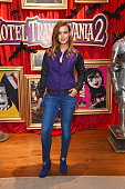 Charlie Webster attends a gala screening of 'Hotel Transylvania 2' at The Soho Hotel on September 27 2015 in London England