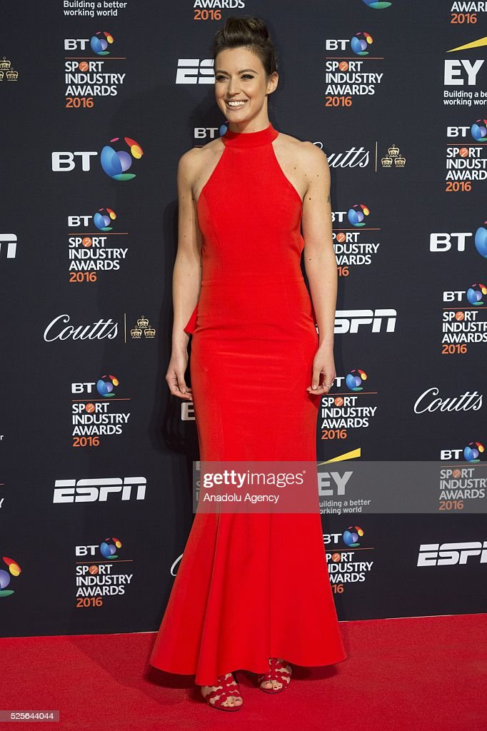 Charlie Webster attends the BT Sport Industry Awards 2016 in London, United Kingdom on April 28, 2016.