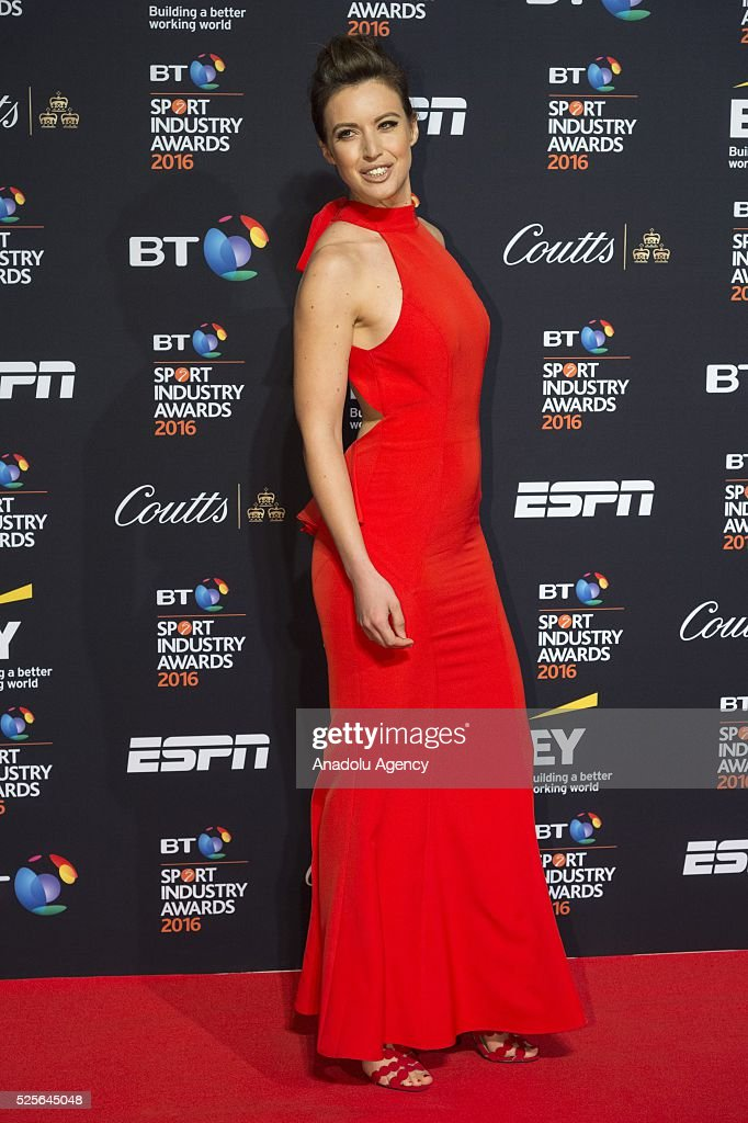 Charlie Webster attends the BT Sport Industry Awards 2016 in London, United Kingdom on April 28, 2016.