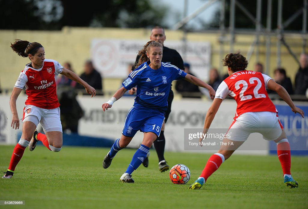 Charlie Wellings of Birmingham City Ladies during the WSL match Charlie Wellingsbetween Birmingham City Ladies and Arsenal Ladies FC at Automated Technology Stadium on June 29, 2016 in Solihull, England.