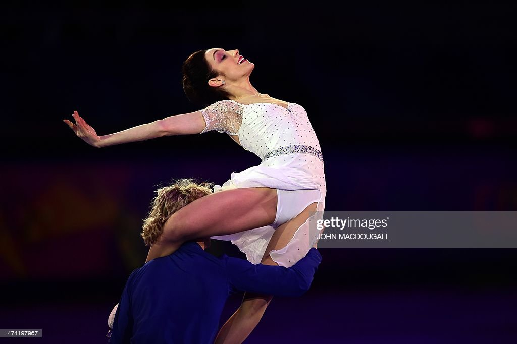 US Charlie White and US Meryl Davis perform at the Figure Skating Exhibition Gala at the Iceberg Skating Palace during the Sochi Winter Olympics on February 22, 2014.