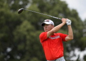 Charlie Wi hits a drive on the ninth hole during the second round of the FedEx St Jude Classic at TPC Southwind on June 6 2014 in Memphis Tennessee