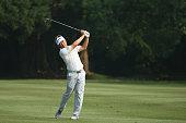 Charlie Wi of Korea in action during the first round of the 2014 Hong Kong open at The Hong Kong Golf Club on October 16 2014 in Hong Kong Hong Kong