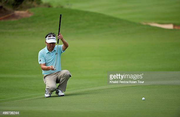 Charlie Wi of Korea plays a shot during round one of the Ho Tram Open at The Bluffs Ho Tram Strip on December 3 2015 in Ho Chi Minh City Vietnam