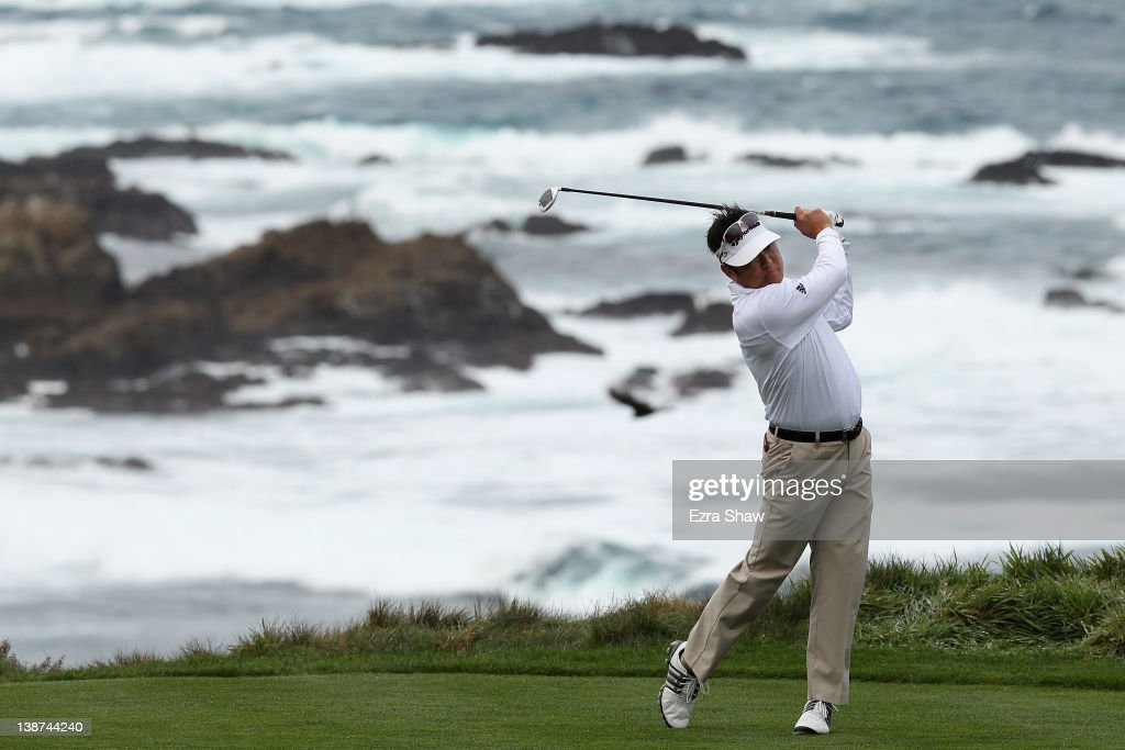 <a gi-track='captionPersonalityLinkClicked' href=/galleries/search?phrase=Charlie+Wi&family=editorial&specificpeople=678470 ng-click='$event.stopPropagation()'>Charlie Wi</a> of South Korea hits his tee shot on the third hole during the third round of the AT&T Pebble Beach National Pro-Am at the Spyglass Hill Golf Course on February 11, 2012 in Pebble Beach, California.