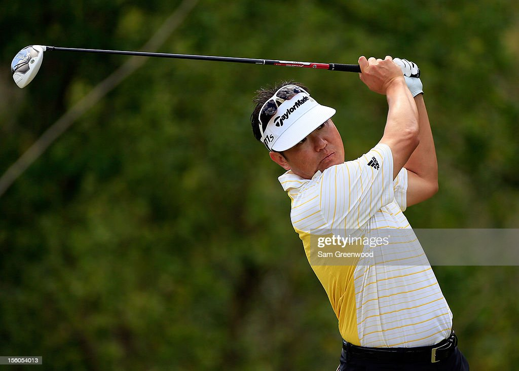 Charlie Wi of South Korea plays a shot on the 4th hole during the final round of the Children's Miracle Network Hospitals Classic at the Disney Magnolia course on November 11, 2012 in Lake Buena Vista, Florida.