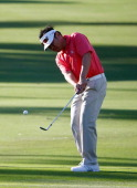 Charlie Wi plays a shot during a practice round prior to the Sony Open in Hawaii at Waialae Country Club on January 7 2014 in Honolulu Hawaii