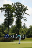 Charlie Wi putts on the 17th during Round One of the Zurich Classic of New Orleans at TPC Louisiana on April 24 2014 in Avondale Louisiana