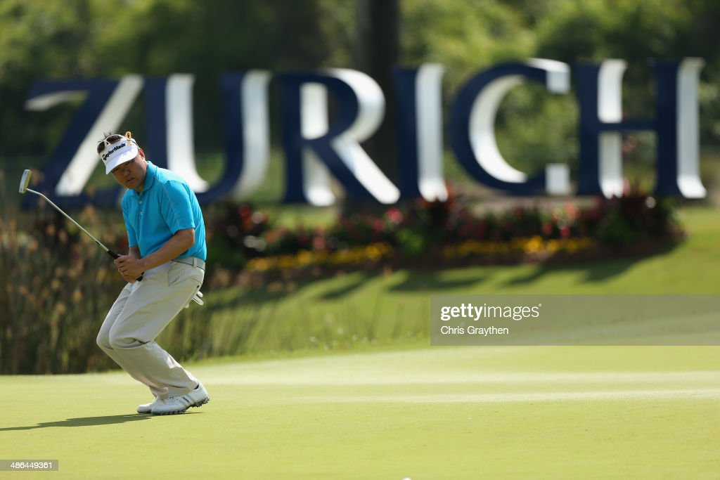 <a gi-track='captionPersonalityLinkClicked' href=/galleries/search?phrase=Charlie+Wi&family=editorial&specificpeople=678470 ng-click='$event.stopPropagation()'>Charlie Wi</a> reacts to a missed birdie putt on the 17th during Round One of the Zurich Classic of New Orleans at TPC Louisiana on April 24, 2014 in Avondale, Louisiana.
