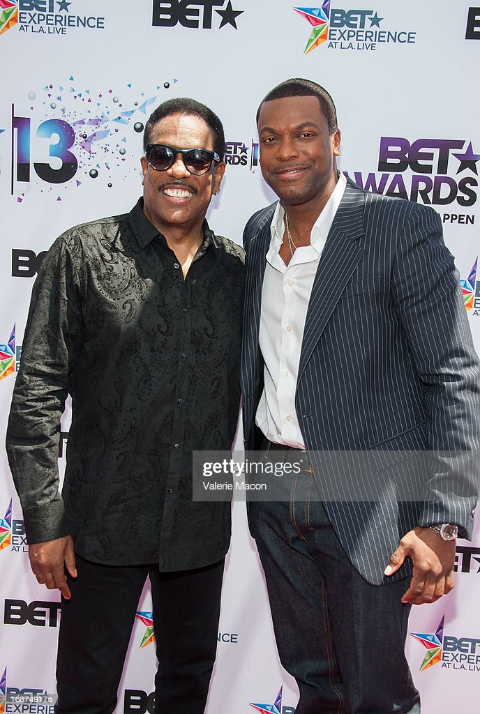 Charlie Wilson and <a gi-track='captionPersonalityLinkClicked' href=/galleries/search?phrase=Chris+Tucker&family=editorial&specificpeople=203254 ng-click='$event.stopPropagation()'>Chris Tucker</a> attends the 2013 BET Awards Press Conference at Icon Ultra Lounge on May 14, 2013 in Los Angeles, California.