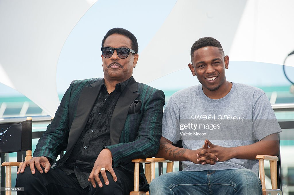 Charlie Wilson and Kendrick Lamar attends the 2013 BET Awards Press Conference at Icon Ultra Lounge on May 14, 2013 in Los Angeles, California.