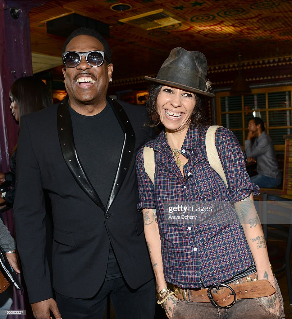 Charlie Wilson and Linda Perry at BMI's 'How I Wrote That Song' panel at House of Blues on January 25 2014 in West Hollywood California