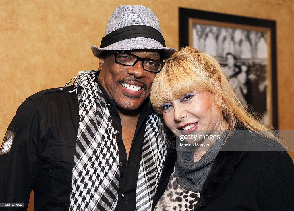 Charlie Wilson and Mahin Wilson backstage at the Fox Theatre on April 8, 2012 in Detroit, Michigan.
