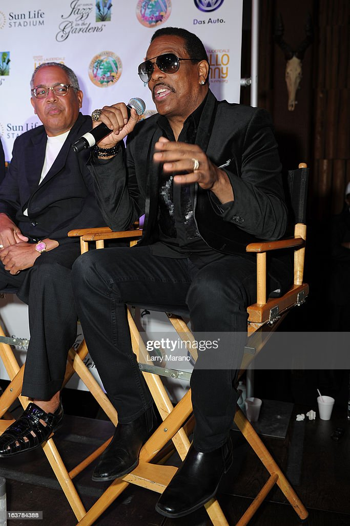 Charlie Wilson attends 8th Annual Jazz In The Gardens Press Conference at Pangea at Seminole Hard Rock Hotel on March 15, 2013 in Hollywood, Florida.