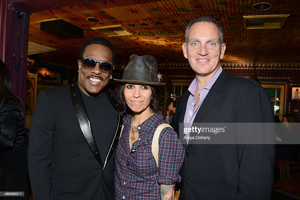 Charlie Wilson Linda Perry BMI Chief Operating Officer Michael O'Neill at BMI's 'How I Wrote That Song' panel at House of Blues on January 25 2014 in...