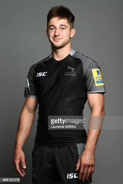 Charlie Wilson of the Newcastle Falcons poses for a portrait the Newcastle Falcons photocall at Kingston Park on August 17 2017 in Newcastle upon...