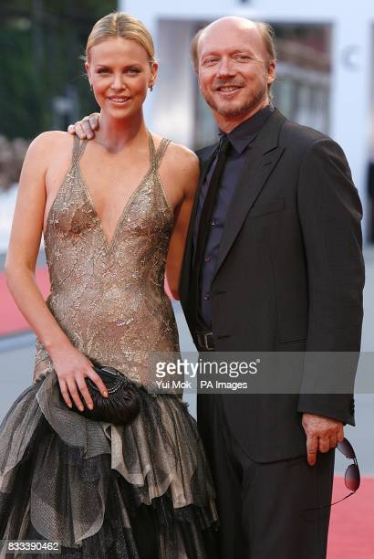 Charlize Theron and director Paul Haggis at the premiere of 'In the Valley Of Elah' at the Venice Film Festival in Italy Saturday 1 September 2007