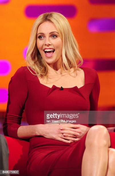 Charlize Theron appears on the Graham Norton show at the London Studios in London