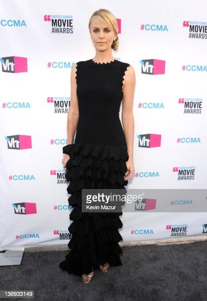 Charlize Theron arrives at the 17th Annual Critics' Choice Movie Awards at Hollywood Palladium on January 12 2012 in Hollywood California