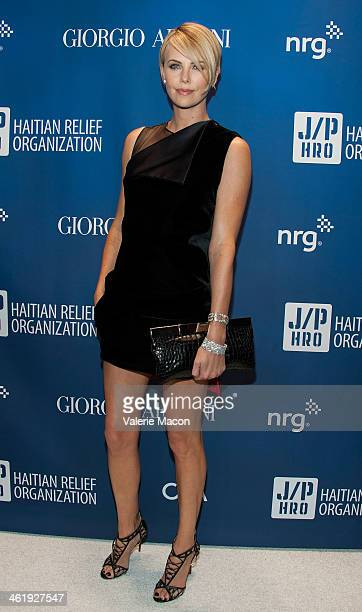 Charlize Theron arrives at the 3nd Annual Sean Penn Friends HELP HAITI HOME Gala Benefiting J/P HRO Presented By Giorgio Armani at Montage Hotel on...